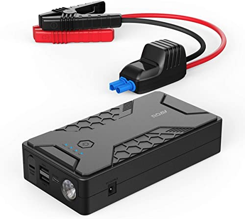 new arrival Anker ROAV Jump high quality Starter Pro 1000A, 12800mAh, 12V Portable Car Jump Starter (Gas Engines up to 6.0L, Diesel up to 4.0L), Battery and Phone Charger with 3 2021 USB Ports, SOS LED, and Jumper Cables outlet online sale