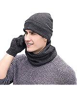 Winter Men Beanie Hat + Scarf ...
