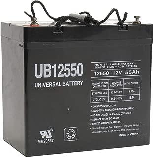 Universal Power Group UB12550 12V 55AH Internal Thread Battery for Pride Jazzy Wheelchair 1133