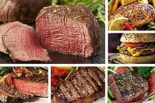 Chicago Steak Angus Steak Set - Have a Taste of Prime Beef! – Gourmet Food Sampler – 8 Cuts/16 Burger Patties - Includes Filet Mignon Steaks, Sirloin, Ribeye, Flat Iron Steak, Marinated Chicken