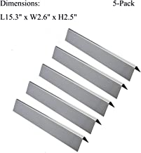 GasSaf L15.3 Flavorizer Bar Replacement for Weber 7636, Spirit 300 310 320 E310 E320 Series,Weber 46510001, 47513101 Gas Grill Front Controls (L15.3 x W2.6X T2.5inch)(5-Pack)