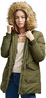 Parka Down Jacket Women Waterproof Jacket Winter Down Coat Puffer Thickened with Fur Hoodie Relaxed Fit