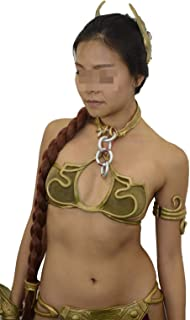 Slave Leia Costume Set Bikini Princess Star Wars Complete Boots Wig