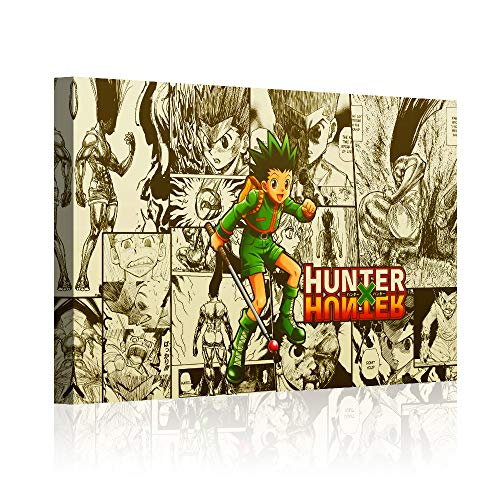 QIXIANG Hunter X Hunter Anime Poster and Prints Canvas Wall Art Gifts Decor Wall Art Pictures Canvas HD Printed Anime Painting Framed Poster Modern Home Decor Room (12'x18', Artwork-04)