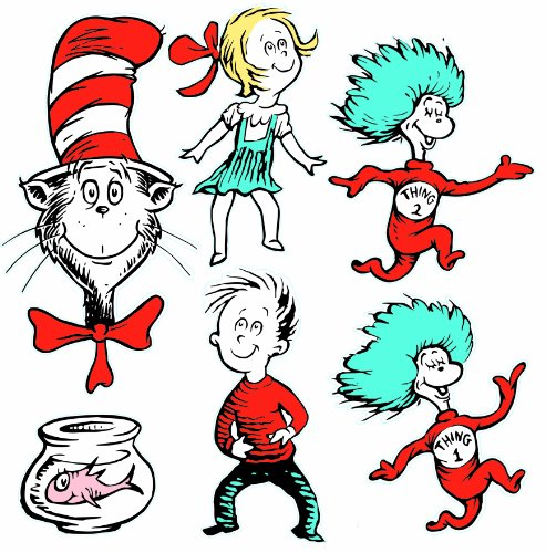 Eureka Back to School Dr. Seuss The Cat in The Hat Classroom Decorations...