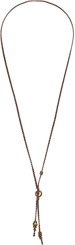Chan Luu Ribbon Necklace with Gold Accents