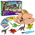 Dig Up Dinosaur Fossil Eggs,Break Open 12 Unique Dinosaur Fossil Eggs and Discover 12 Cute Dinosaurs,Funny Dinosaur Digging Toy for 3 4 5 6 7 8 9-12 Year Old Boys Archaeology Science STEM Gift