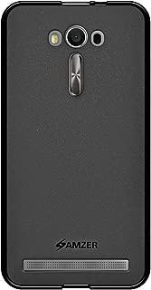 AMZER Pudding TPU Soft Gel Skin Case for Asus Zenfone 2 Laser ZE550KL (5.5') - Retail Packaging - Black