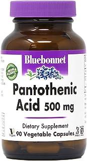 Bluebonnet Pantothenic Acid 500 mg Vegetable Capsules, 180 Count/181 g