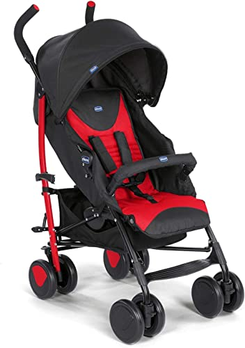 Chicco Echo Stroller with Bumper Bar, Stroller for newborn babies and toddlers, 0m+, Pram for boys and girls (Red, Sc...