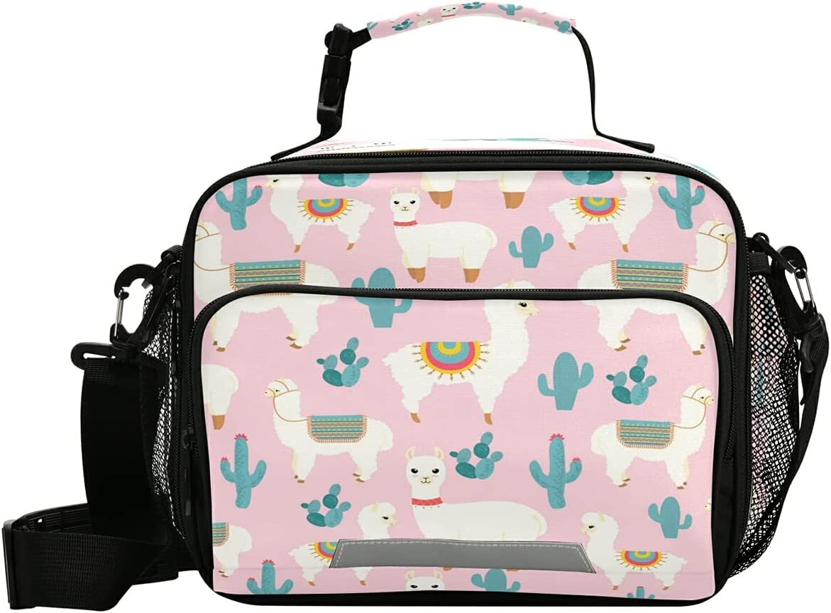 MNSRUU Student Lunch Bag Sales for sale High order Cactus Picn Totes Insulated Llama
