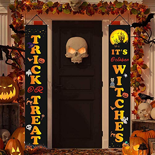 Christmas Porch Sign, Halloween Welcome Signs,Merry Christmas Porch Signs for Front Door Yard Home Decor, New Year Xmas Winter Holiday Party Supplies