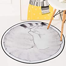 Rugs Coral Velvet Round Non-Slip Wear-Resistant Easy to Clean Home Hall Decoration Carpet 60-180Cm,3,60 * 60cm