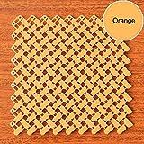ZSHYP Felpudo De Entrada Baño, Alfombra Alfombrilla Creatividad De Protección del Medio Ambiente Rug Costura DIY Se Puede Cortar,Orange-25x25cm