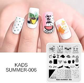 KADS Nail Art Stamping plate Nail Template Nail Art Design Tool Nail DIY Design Image Plate (SU006)