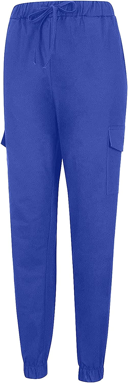 YUNDAN Women's Capris Sweatpants Casual High Waist Elastic Waist Pants for Workout Running Gym Summer Solid Pants