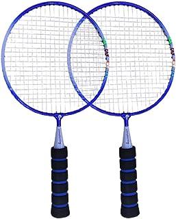 NUOBESTY 1 Pair Badminton Racket, Mini Badminton Racquet for Children Funny Badminton Indoor/Outdoor Sport Game (Blue)