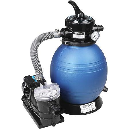 Monzana Pompe Filtre à Sable 9.600 L/h avec pré-Filtre Système de Filtration Eau Piscine