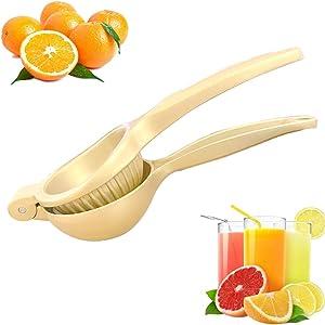Hoshen Stainless Steel Manual Juicer, Multi-Function Orange Lemon Juicer, Metal Labor-Saving Juicer,Gold