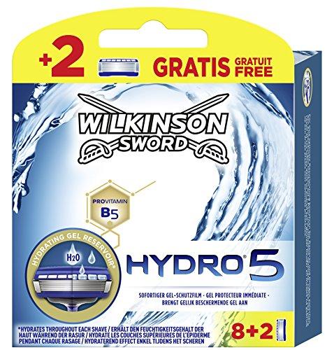 Wilkinson Sword Hydro 5Hoja Paquete 8+ 2cuchillas gratis, 10unidades)