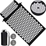 COLFULINE Acupressure Mat Set Acupuncture Kit with Pillow, Carry Bag for Travel,