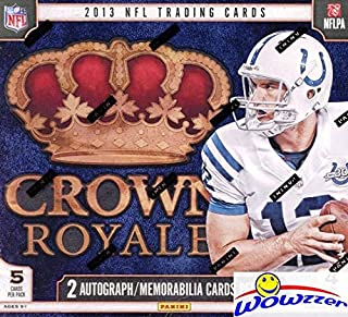 2013 Panini Crown Royale NFL Football Factory Sealed Retail Box with TWO(2) AUTOGRAPH or MEMORABILIA Cards! Look for Rookies & Autographs of the NFL Draft Picks! WOWZZER!