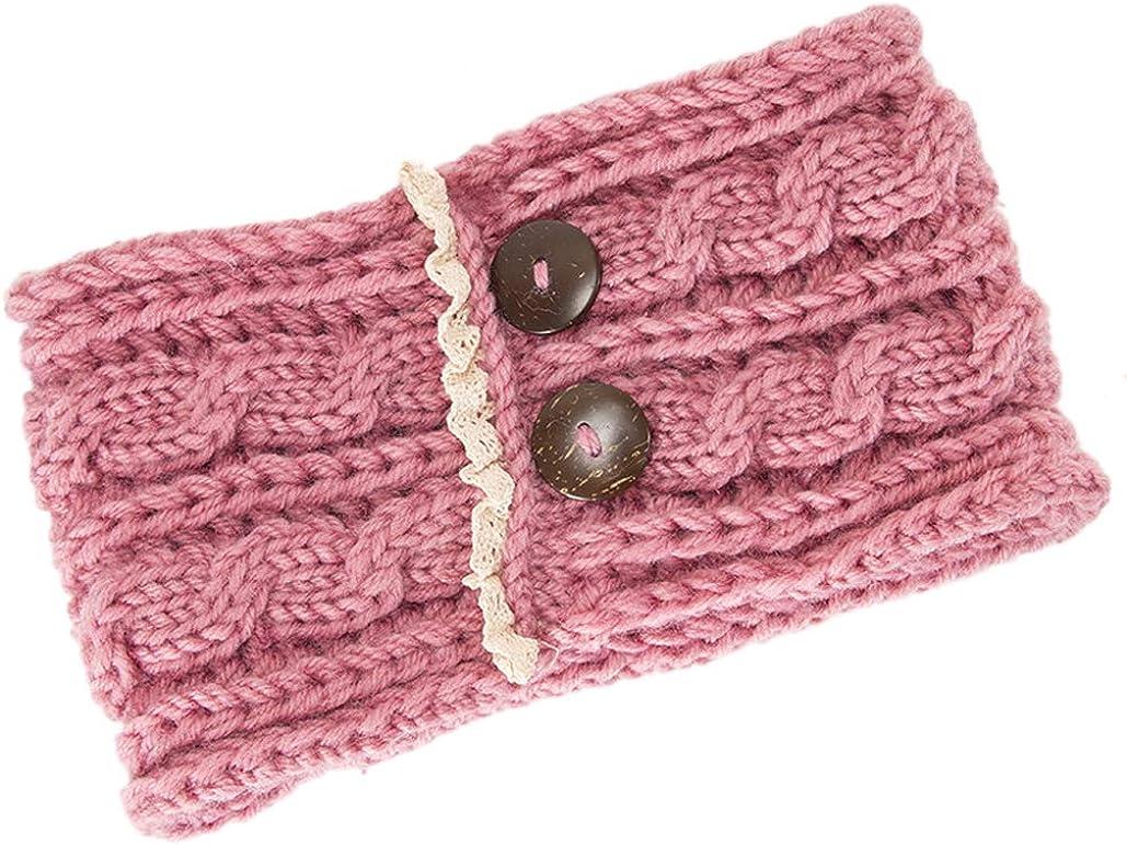 Elifemona Women Fashion Crochet Lace Headband Knitted Arm Warmer Winter Headwrap