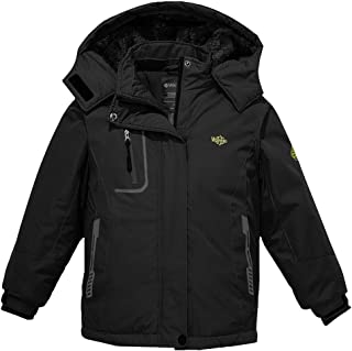 Girl's Hooded Ski Fleece Jacket Waterproof Winter Coat...