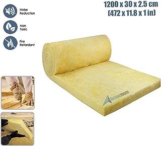 Arrowzoom New 1200 x 30 x 2.5 CM/472 x 11.8 x 1 Inches Acoustic Mineral Wool Insulation Board AZ1156