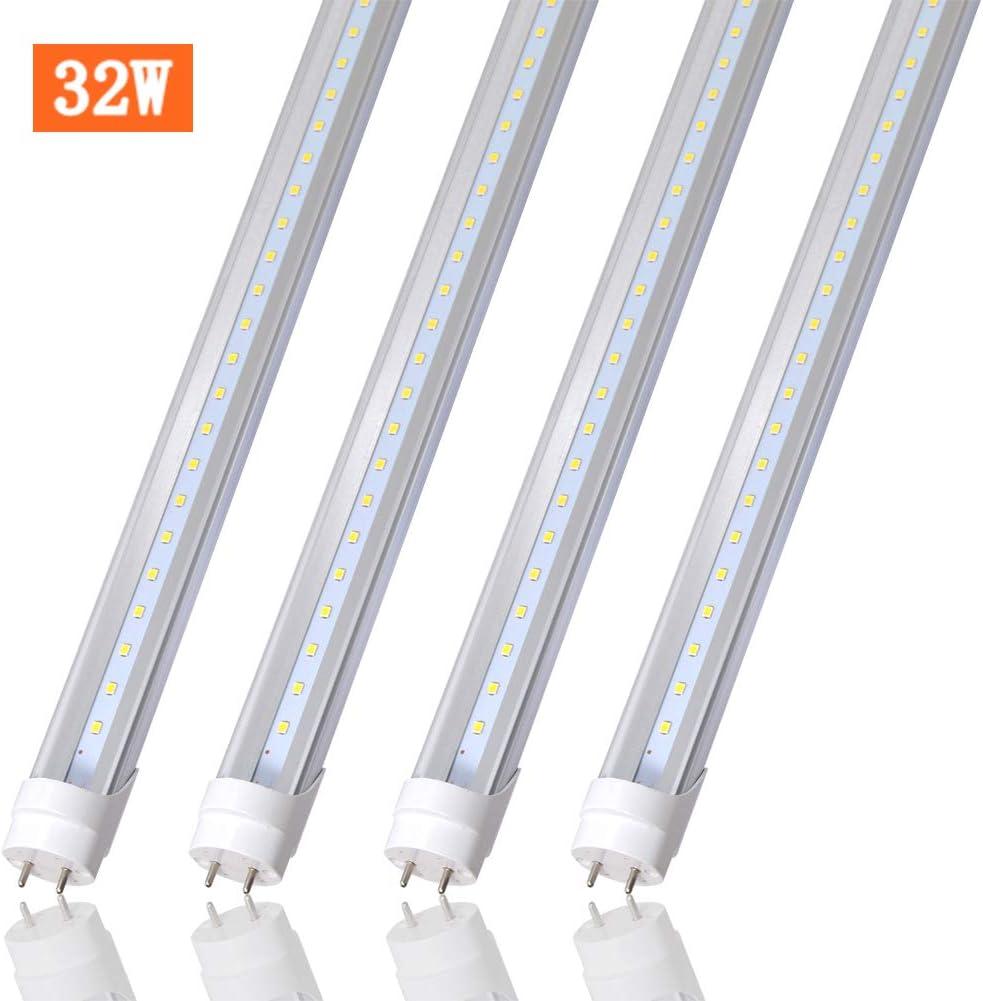 4FT LED Shop Light, T8 T10 T12 LED Tube Light 32W(60W Equivalent), 4160 Lumens,6000K Daylight, Clear Cover, Medium Bi-Pin G13 Base for Garage Warehouse Light ,4 Pack