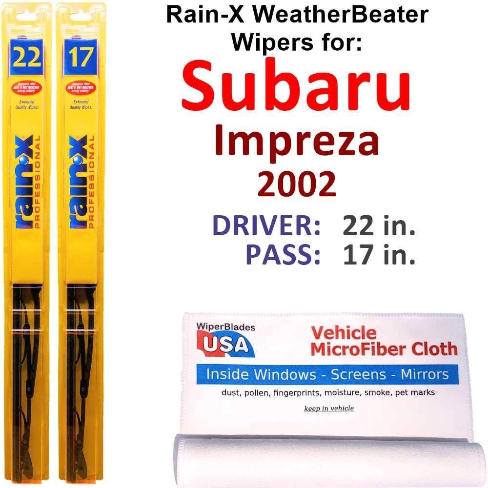 Rain-X WeatherBeater Wiper Blades Japan's largest assortment for Set Ra Impreza 2002 Import Subaru