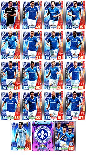 Match Attax Bundesliga 2015 2016 - Karten-Set SV Darmstadt 98 Cap Offensiv-Trio Teamlogo - Deutsch