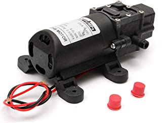 مضخة ماء ضغط عالي تقلع ذاتيًا بمحرك تيار مستمر 12 فولت 60 واط ومعدل ضخ 4.0 لتر في الدقيقة