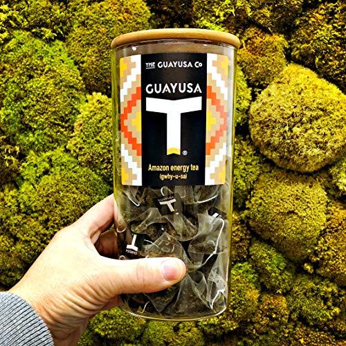 Té Verde de Guayusa - 50 Bolsas Pirámide + Tarro de cristal