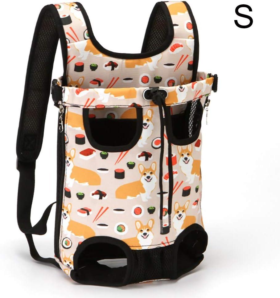 ZHINTE Backpack Mochila portadora para Perros Piernas hacia Fuera Bolsa de Viaje portátil con Manos Libres para Mascotas, Gatos y Cachorros