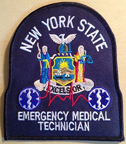 New York State Emergency Medical Technician EMT Uniform Patch - Navy