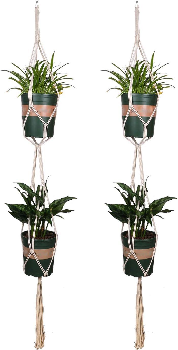 Lancoon Plant half Hangers Handmade Indoor Plan Hanging Planter Latest item Wall