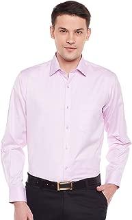 Lamode Men's Solid Pink Formal Shirt1019