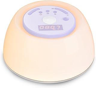 YABAE 「快眠快起・朝晩用に」 光 目覚まし時計 めざまし時計 大音量 快眠ライト Wake Up Light スヌーズ機能 自然音 アラーム タイマー ベッドサイドランプ 3段階調光 led 時計 テーブルライト usb充電 MY-6