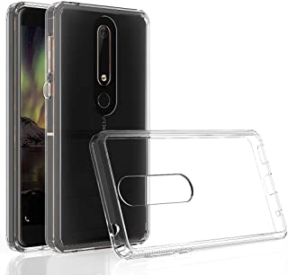RKINC for Nokia 6.1 Case, Reinforced Corners Soft Cushion TPU Bumper + Hybrid Crystal Clear Rugged Hard Transparent Cover for Nokia 6.1, Nokia 6 2018