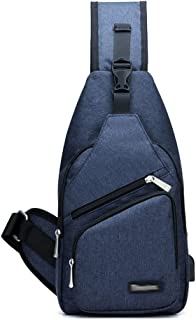 Casual Crossbody Bag with USB Charging Phone Pouch Sling Bag Daypack Backpack Chest Shoulder Purse