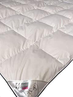 Meisterhome Warme Daunendecke 135 x 200 155 x 220 cm Bettdecke 50% Daunen 50% Federn Decke Steppdecke Kassettendecke Klasse 2 135 x 200 cm
