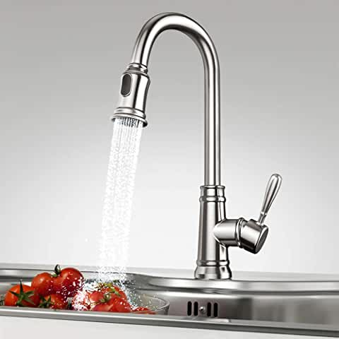 Jadream Single Handle Pull Down Faucet with Deck Plate