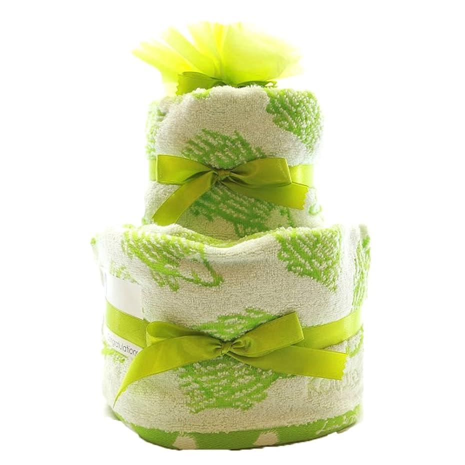 入り口モーテルエクスタシーLISA LARSON | おむつケーキ 2段 女の子 男の子 出産祝い 名入れ パンパース (パンパースM, グリーン(黄緑?ハリネズミ))