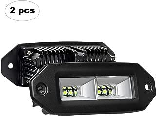 Flush Mount LED Pods, AAIWA 40W 2PCS Off Road Backup LED Light Bar Driving Lights Fog Lamp for Jeep Bumper ATV UTV SUV Truck Boat