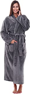 Women's Warm Fleece Robe, Long Plush Bathrobe