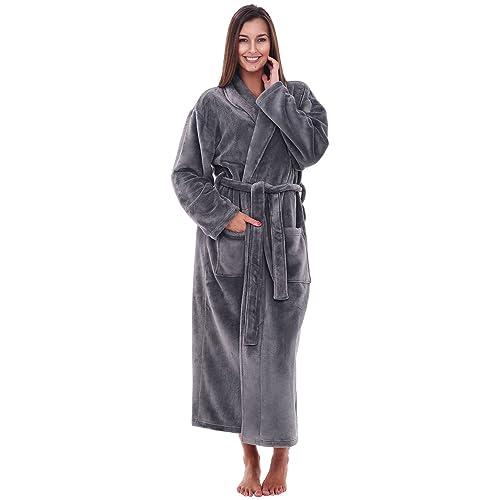 Alexander Del Rossa Womens Fleece Solid Color Robe 00aff6194