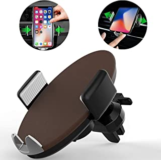 HEGUANGWEI HMT3 Car Air Vent Mount ABS Smart Automatic Clamp Phone Holder Stand, for Phone and Other 4-6 inches Smartphones(Black) Car Accessories (Color : Brown)