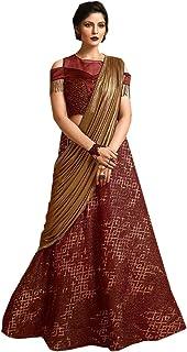 SHRI BALAJI シルク&コットン SAREE EMPORIUM ガールズ イブニングパーティードレス インディアン ウエスタン デザイナー レヘンガ チャニヤ チョリ ガーグラスタイル レディース ウェア セミステッチ 8560