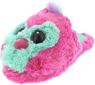 Hachimals Hatchimals draggle Pengualas Girls Plush Scuff Slippers (13-1 M US Little Kid Pink)